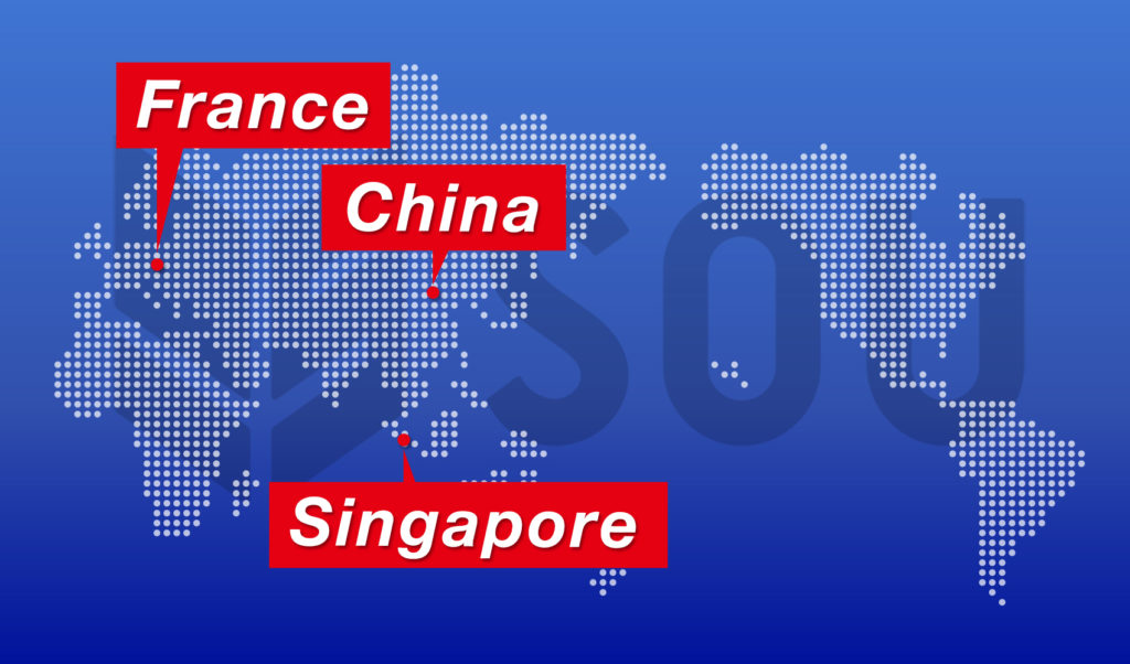 SOUグループ 海外関連事業の促進・強化へ向けフランス、シンガポール、中国への現地法人設立決定