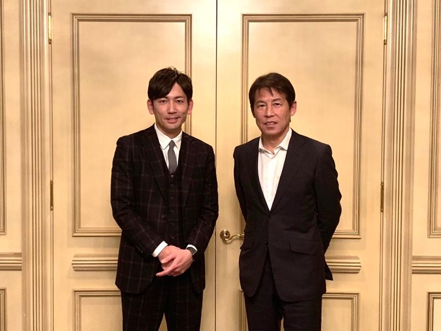 SOU代表 嵜本とガンバ大阪時代の恩師・西野朗 前ガンバ大阪監督との対談が実現!